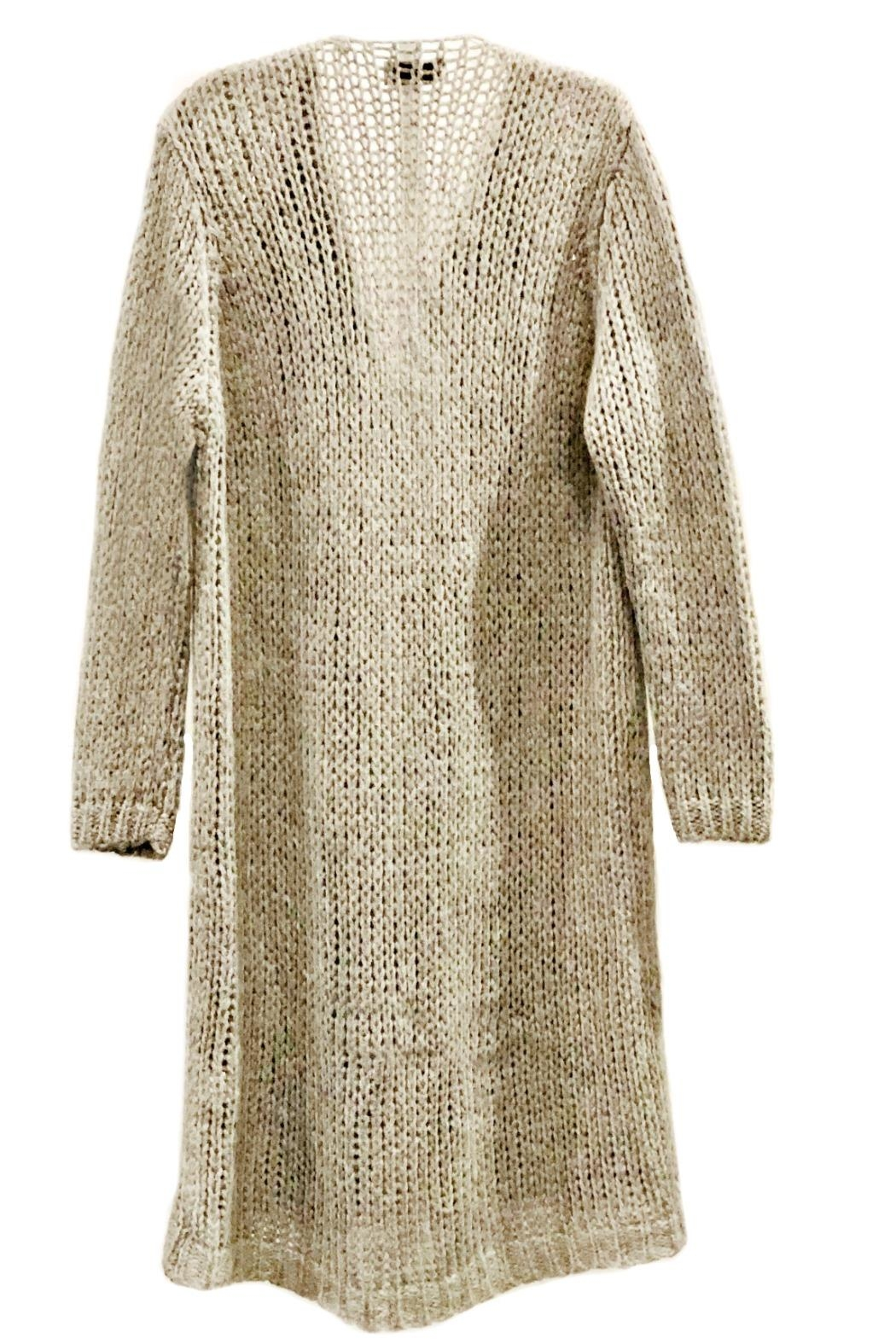 ANTONELLO SERIO Knitted Maxi Cardigan - Front Full Image