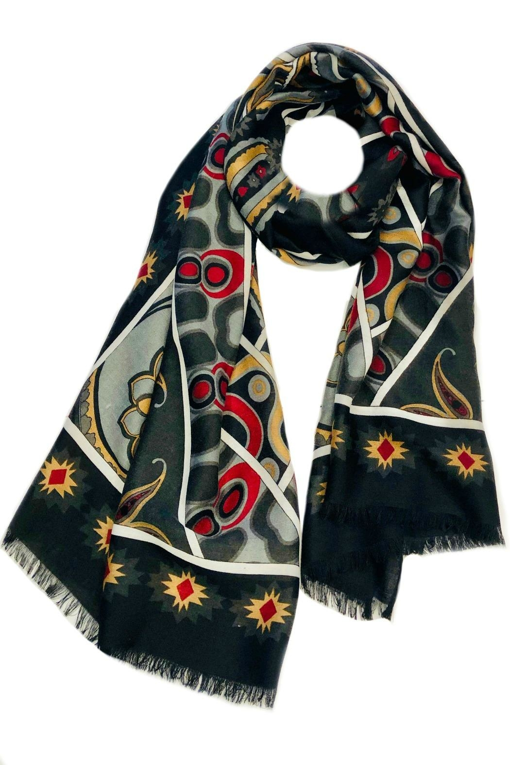 ANTONELLO SERIO Multi Patterns Scarf - Main Image