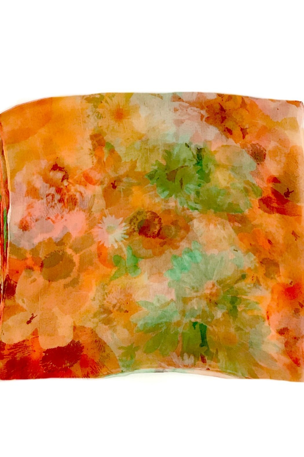 ANTONELLO SERIO Orange Green Silk - Side Cropped Image