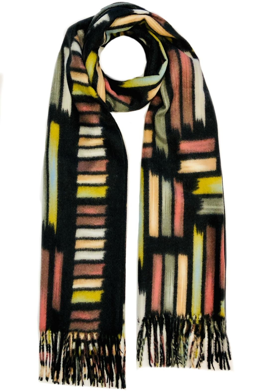 ANTONELLO SERIO Paint Strokes Scarf - Front Cropped Image
