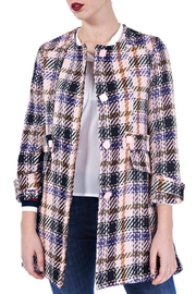Angela Davis Pastel Plaid Coat - Product Mini Image