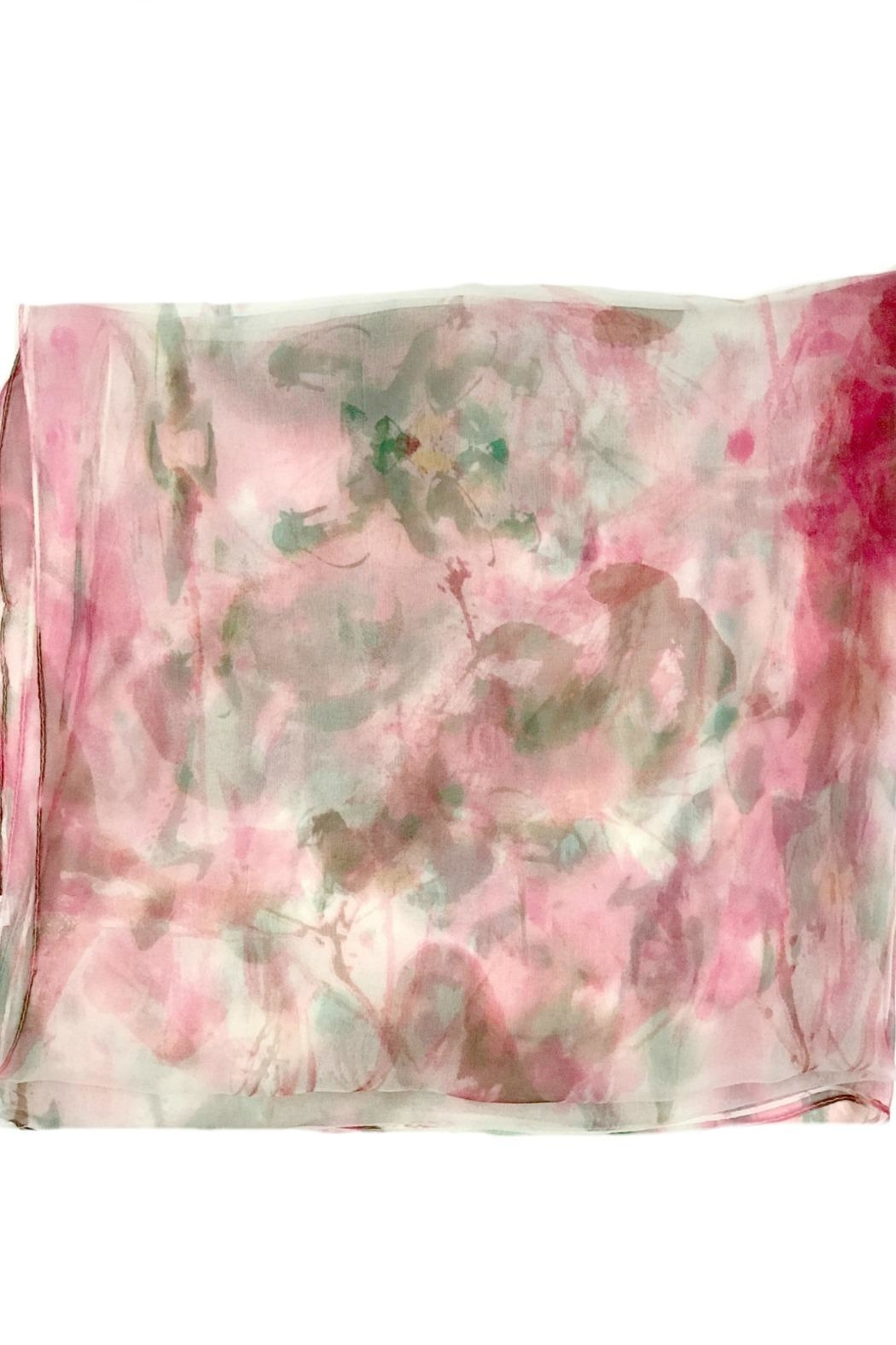 ANTONELLO SERIO Pink Green Silk - Side Cropped Image