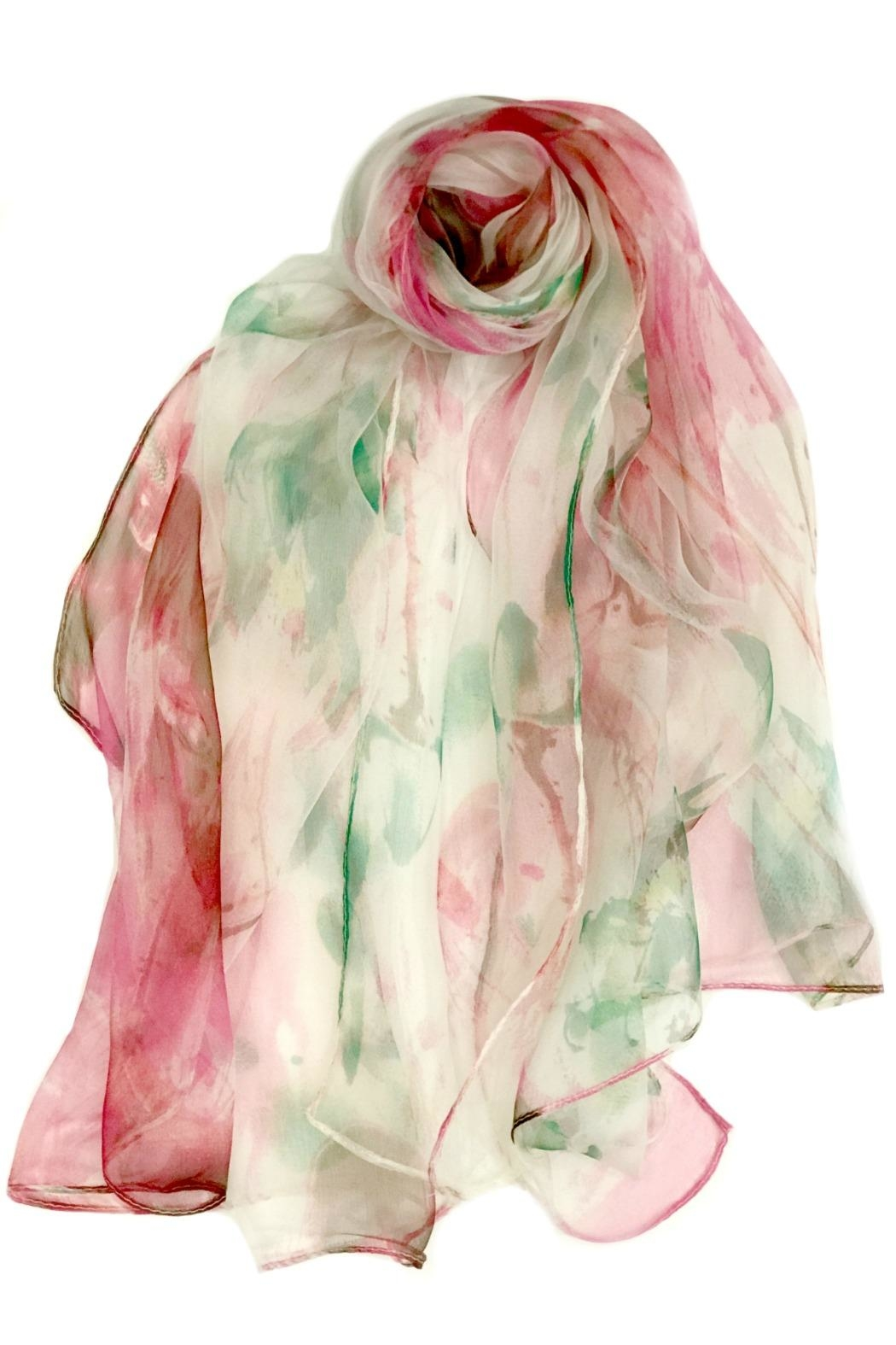 ANTONELLO SERIO Pink Green Silk - Front Cropped Image