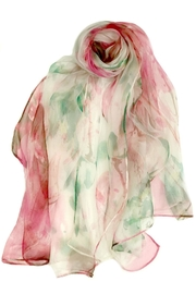 ANTONELLO SERIO Pink Green Silk - Front cropped