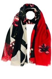 ANTONELLO SERIO Red Floral Scarf - Front cropped