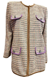 Dixie Tan Tweed Blazer - Product Mini Image