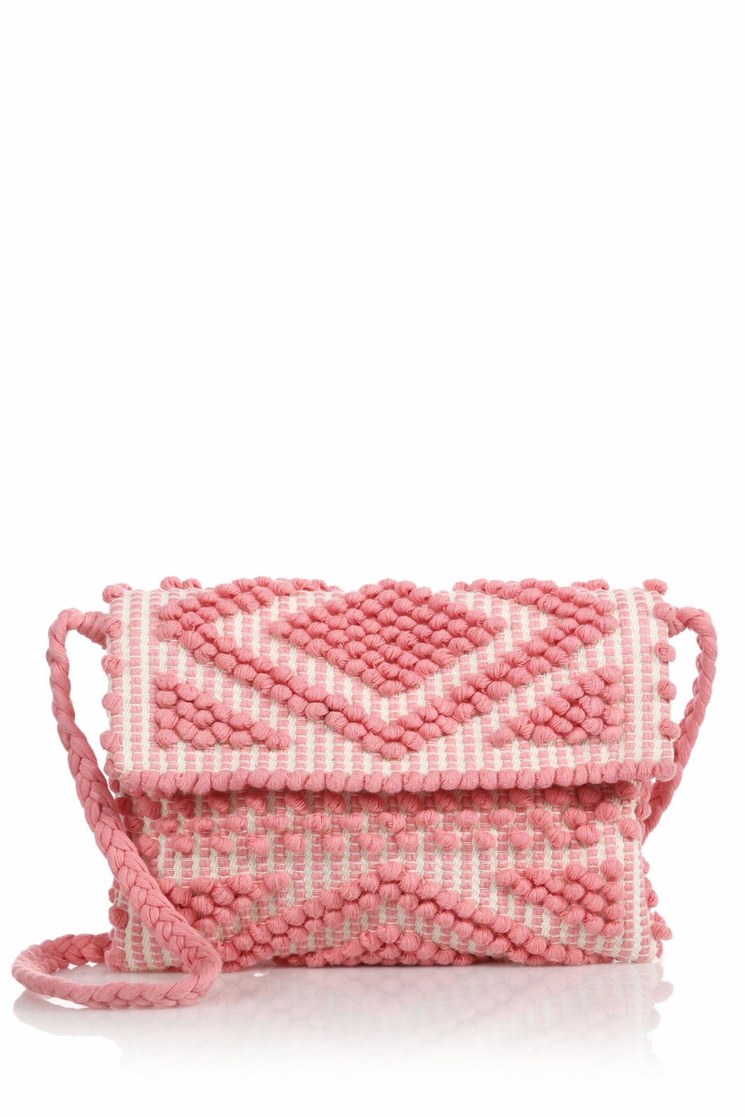 Antonello Tedde Pink Rombi Clutch Bag - Front Cropped Image