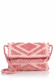 Antonello Tedde Pink Rombi Clutch Bag - Front cropped