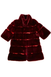 ANTONELLO SERIO Wine Faux Fur Coat - Product Mini Image