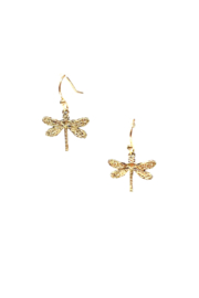 Joy Accessories Antq Gold Dragonfly Earring - Product Mini Image