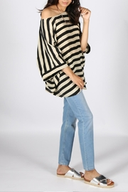 Anupamaa Black-Stripe Prisha Top - Side cropped
