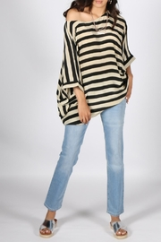 Anupamaa Black-Stripe Prisha Top - Product Mini Image
