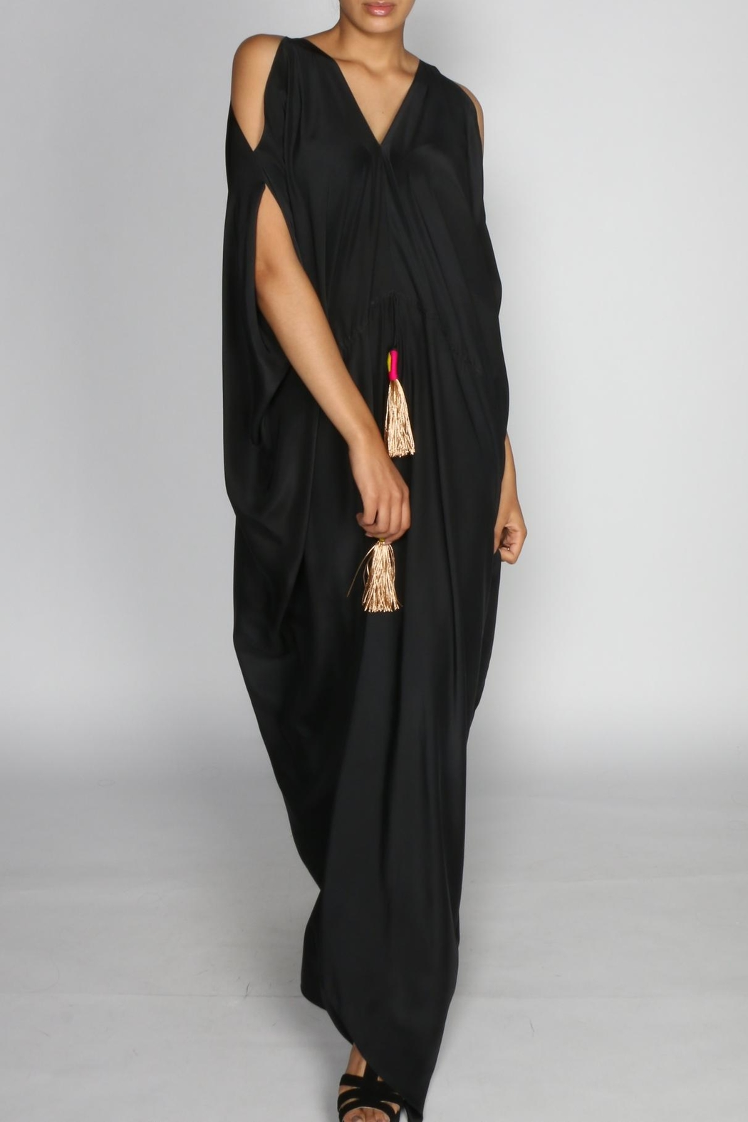 Anupamaa Black Tusha Dress - Front Full Image