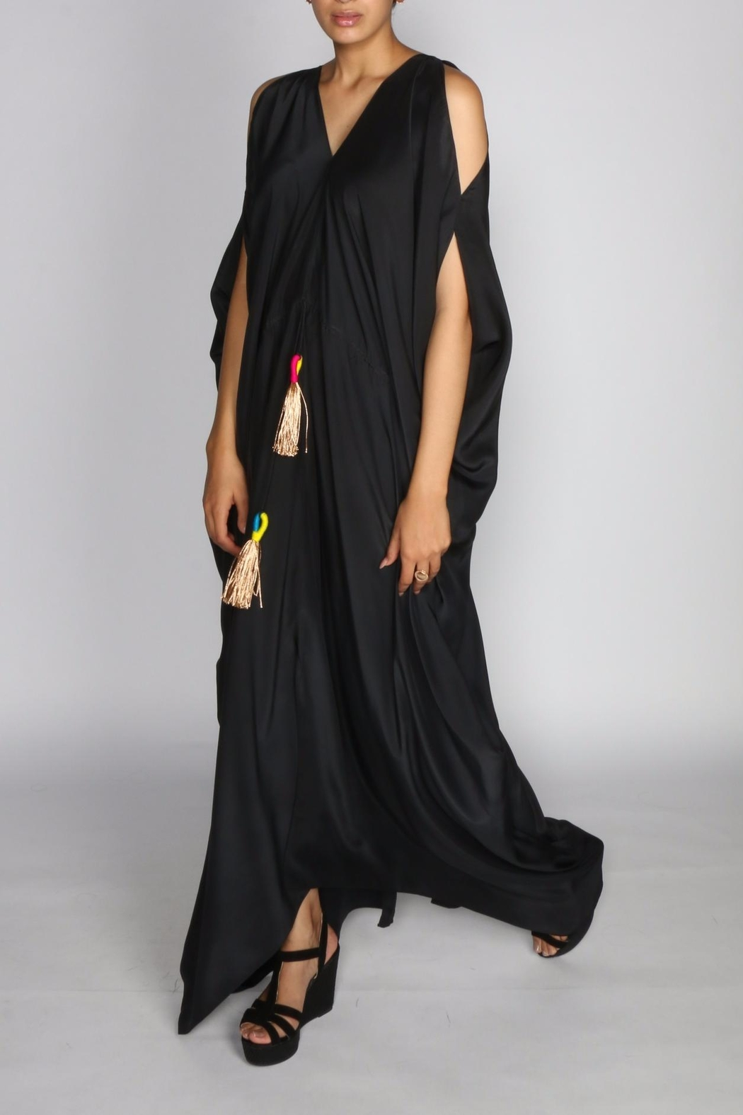 Anupamaa Black Tusha Dress - Side Cropped Image