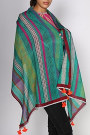 Anupamaa Evergreen Wool Scarf - Front full body