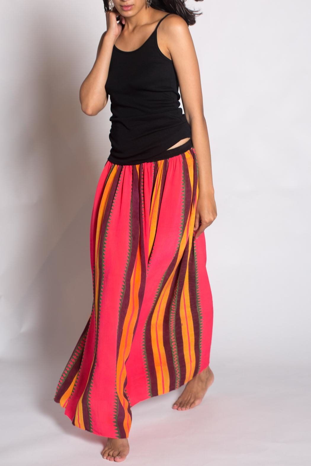 Anupamaa Fluro Gajari Skirt - Side Cropped Image