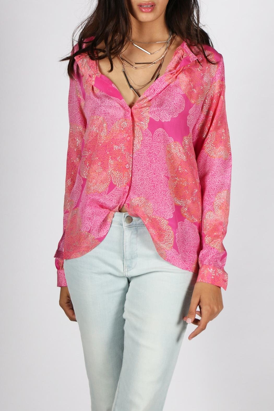 Anupamaa Fuchsia-Meen Osho Shirt - Front Cropped Image
