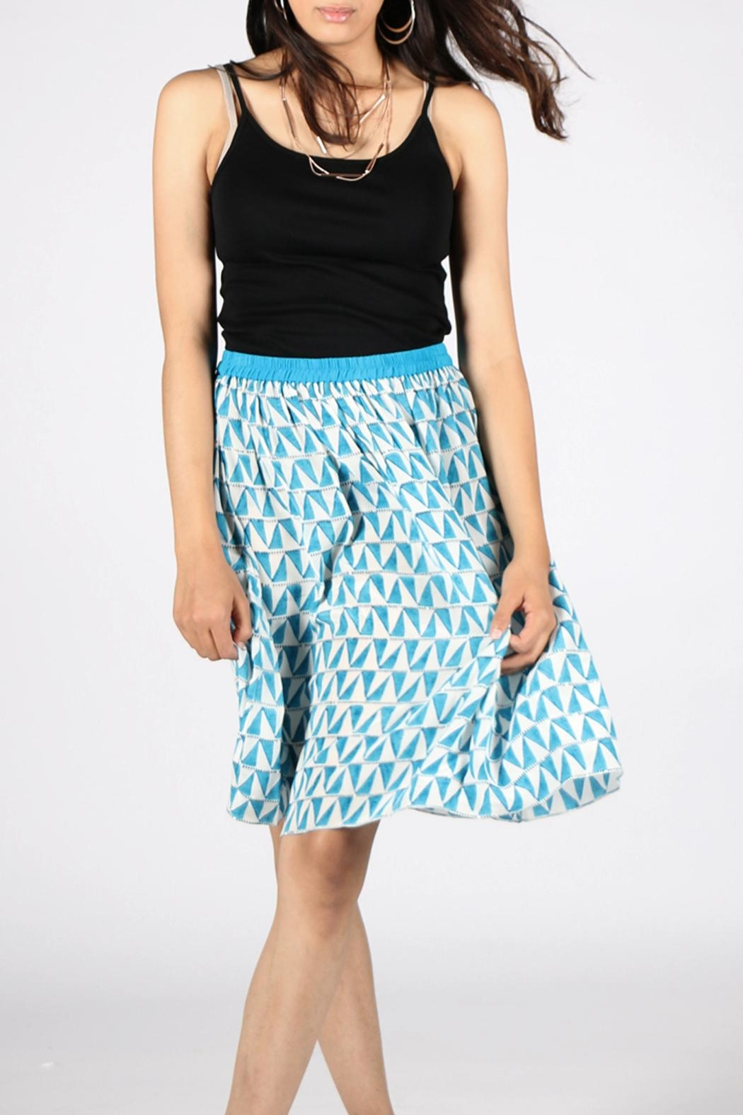 Anupamaa Gajari Blue Skirt - Back Cropped Image