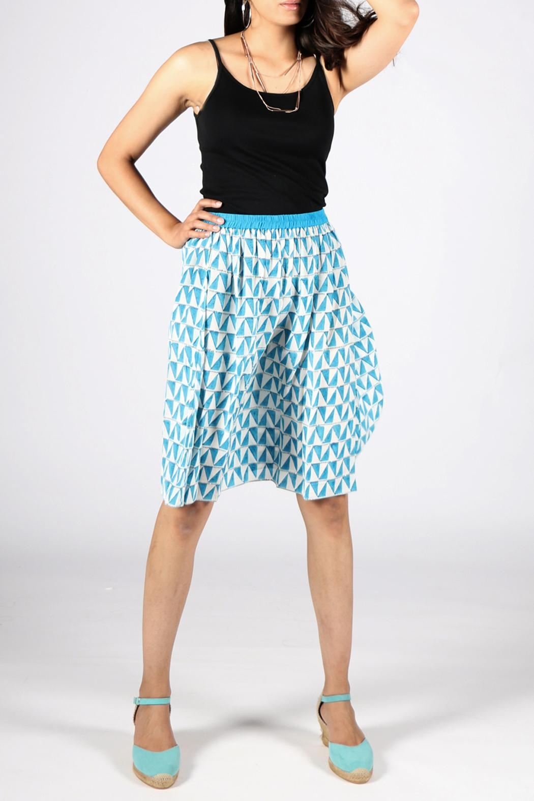 Anupamaa Gajari Blue Skirt - Side Cropped Image