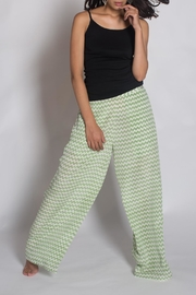 Anupamaa Silk Green Palazzo Pant - Front full body