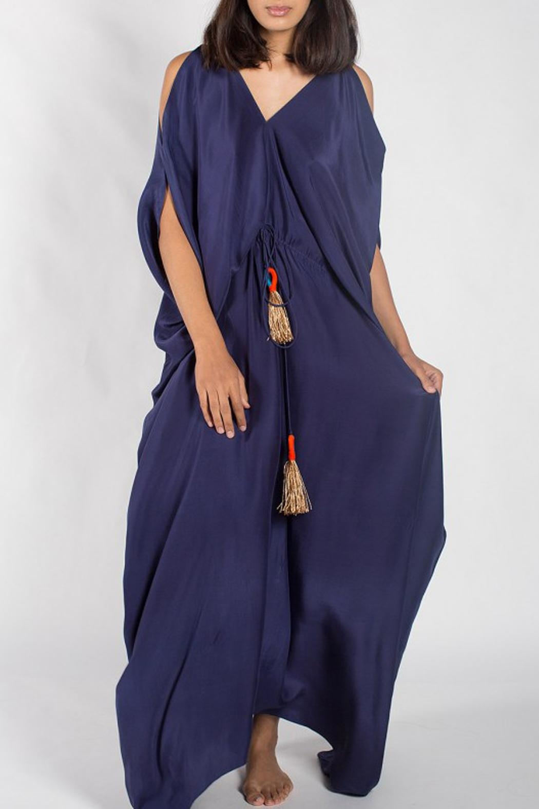 Anupamaa Navy Tusha Dress - Side Cropped Image