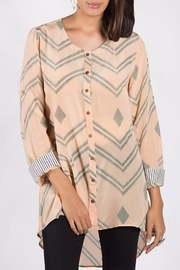 Anupamaa Peach Agni Shirt - Front full body
