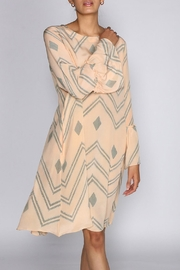 Anupamaa Peach Mao Dress - Front full body
