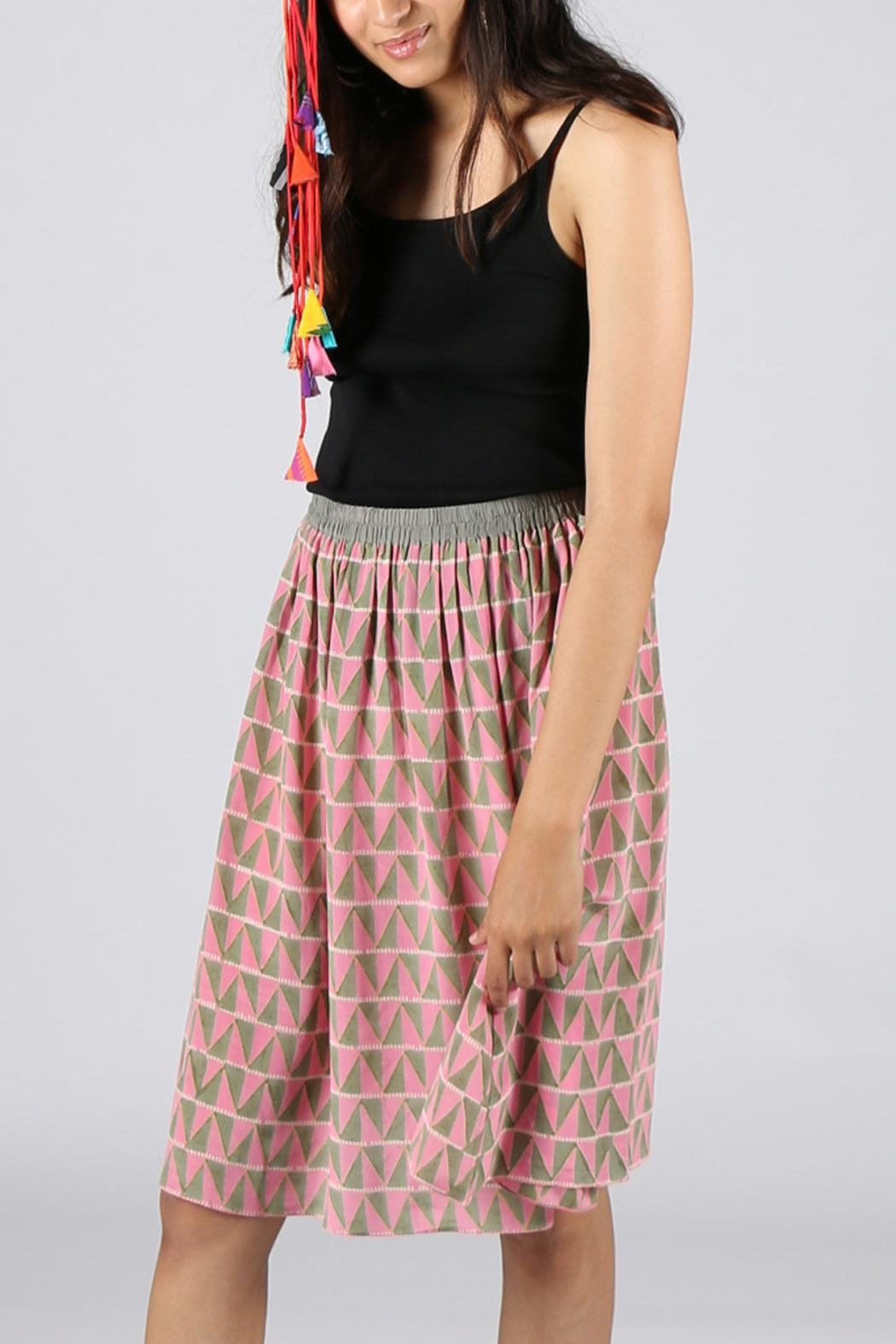 Anupamaa Pink Gajari Skirt - Side Cropped Image