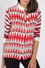 Anupamaa Red Kashmir Shirt - Front cropped