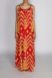 Anupamaa Red String Silk Maxi - Side cropped