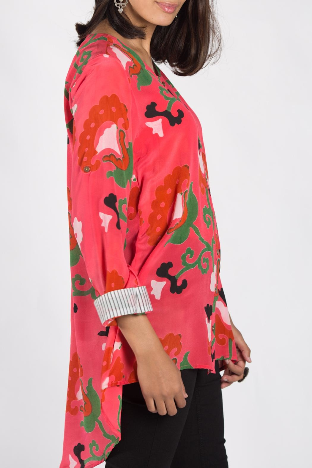 Anupamaa Salmon Agni Shirt - Side Cropped Image