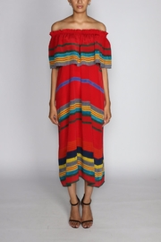 Anupamaa Sindoor Stripe Dress - Front full body
