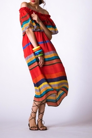 Anupamaa Sindoor Stripe Dress - Other