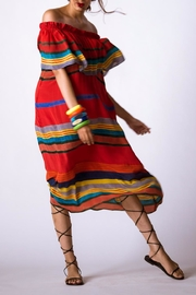 Anupamaa Sindoor Stripe Dress - Back cropped