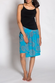 Anupamaa Turquoise Gim Skirt - Front cropped