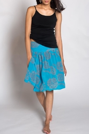 Anupamaa Turquoise Gim Skirt - Side cropped
