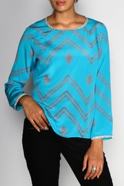 Anupamaa Turquoise Sarine Top - Back cropped
