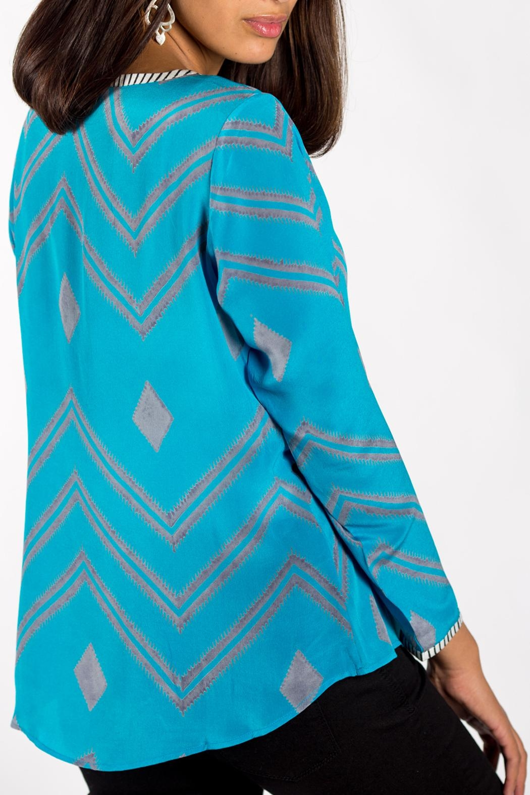 Anupamaa Turquoise Sarine Top - Front Full Image