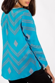 Anupamaa Turquoise Sarine Top - Front full body