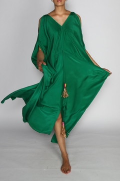 Shoptiques Product: Tusha Green Silk Dress