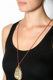 Anvil Creations Yellow Turquoise Copper Necklace - Back cropped