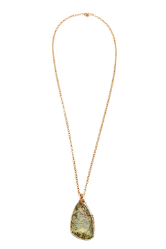 Shoptiques Product: Yellow Turquoise Copper Necklace