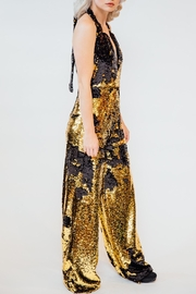 Any Old Iron Flip Sequin Jumpsuit - Front full body