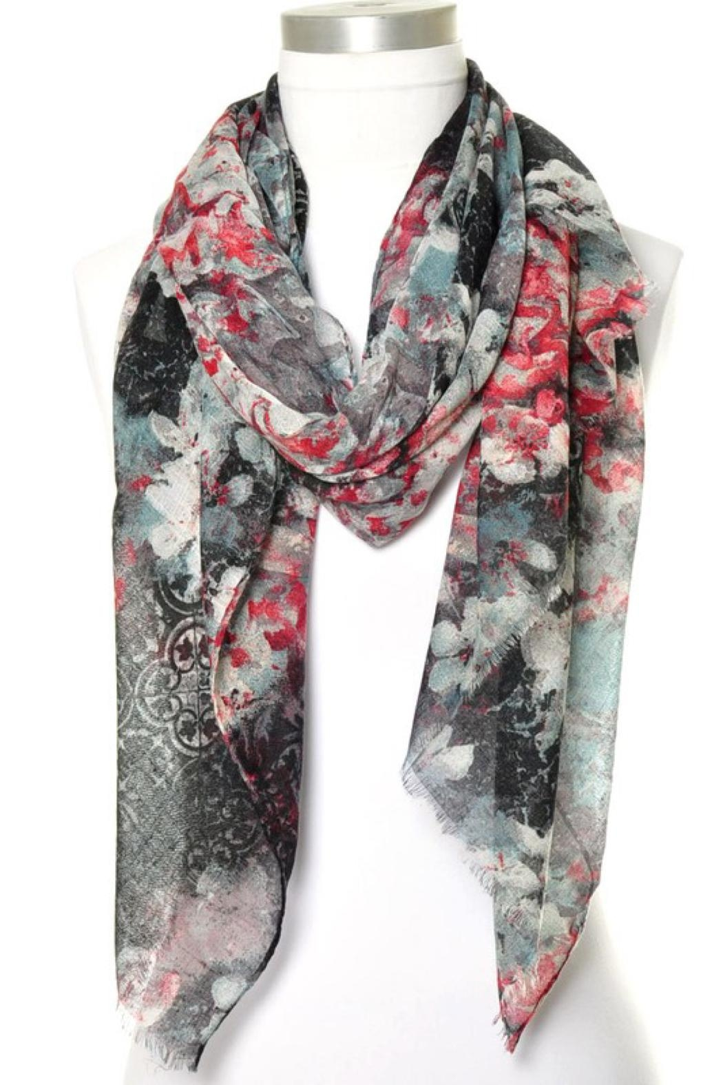Anzell Floral Scarf - Front Cropped Image
