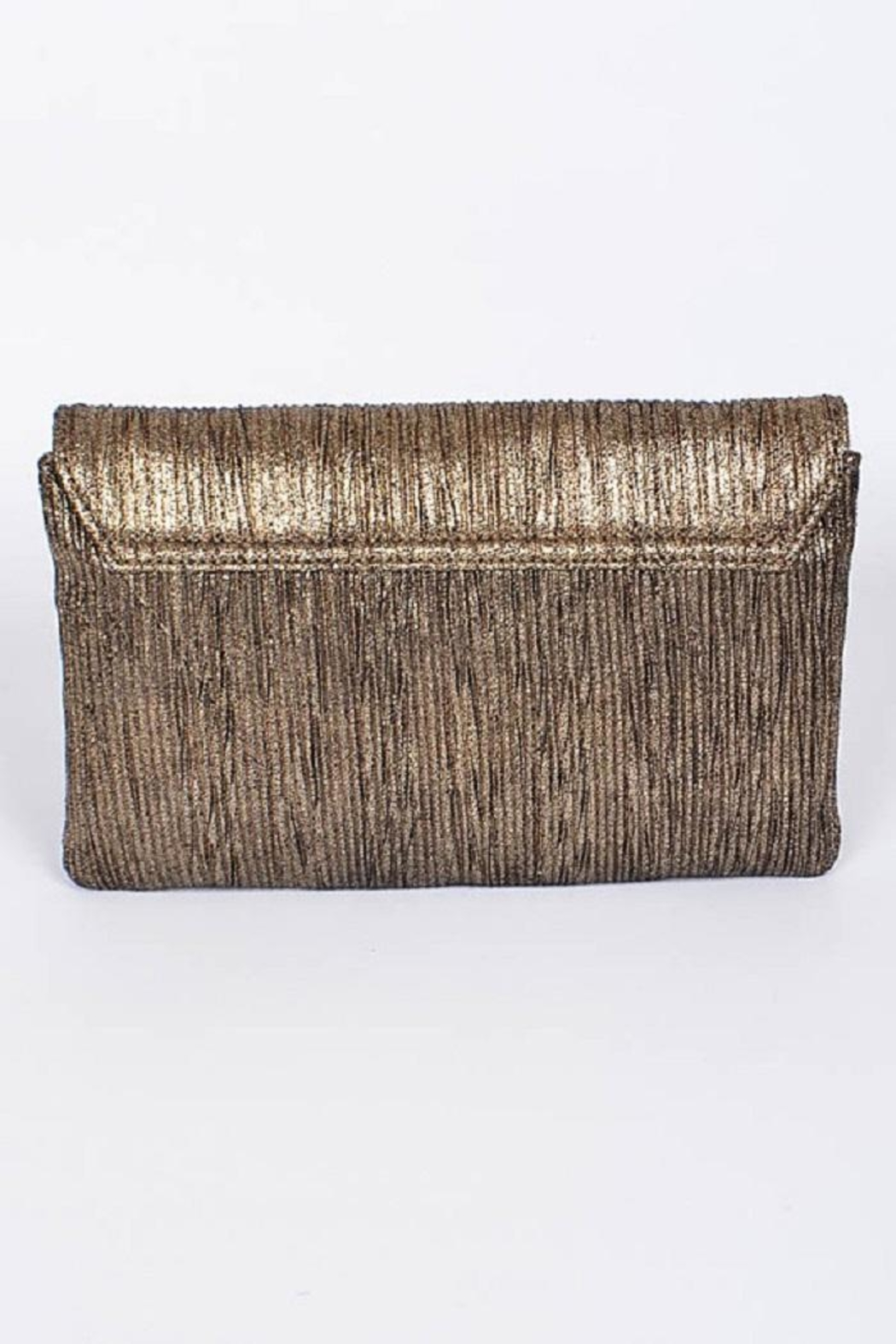Anzell Gold Envelope Clutch - Front Full Image