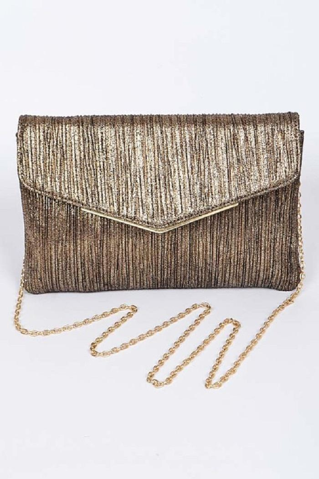 Anzell Gold Envelope Clutch - Main Image
