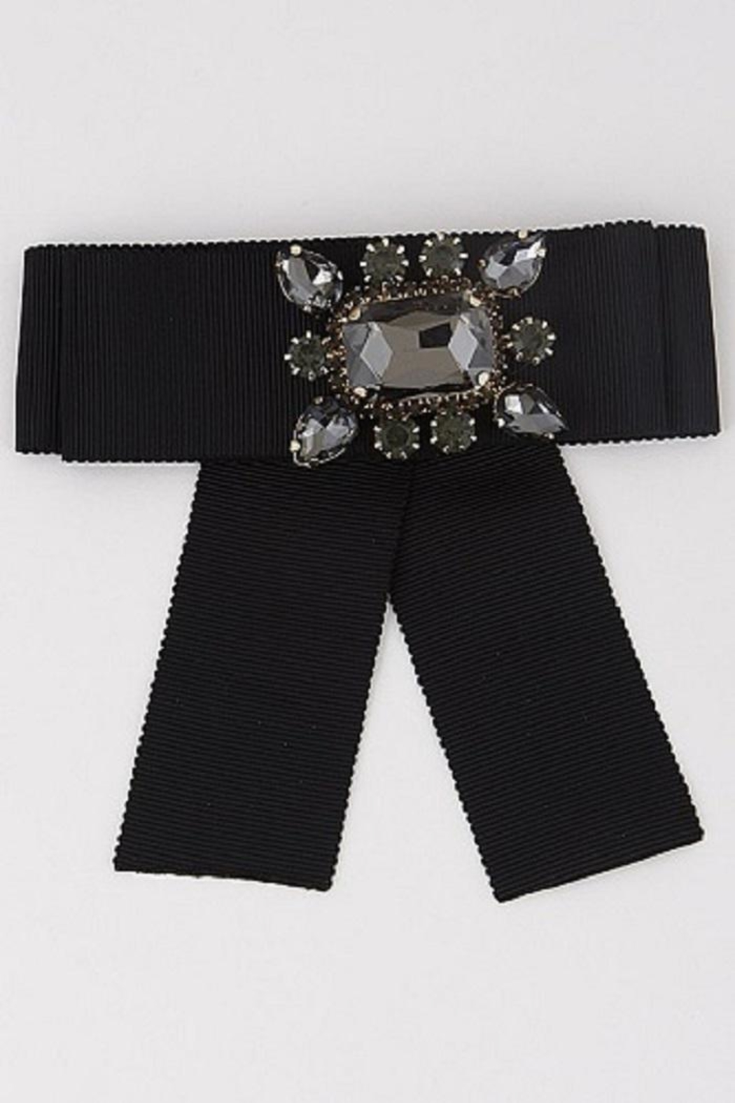 Anzell Jeweled Bow Pin - Main Image