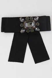 Anzell Jeweled Bow Pin - Front cropped