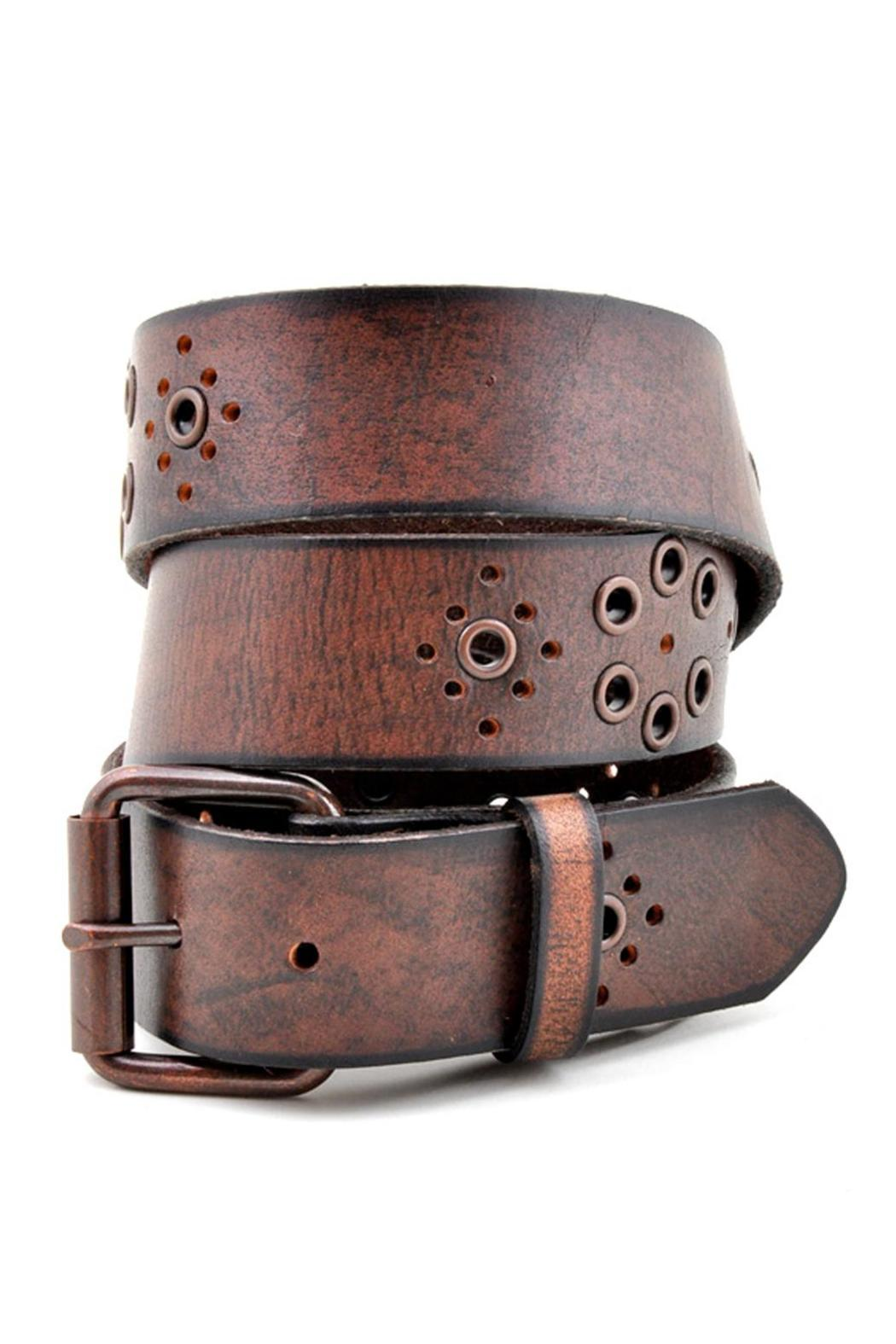 Anzell Oil Tanned Leather Belt - Front Cropped Image