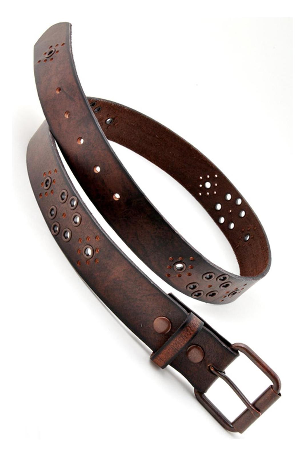Anzell Oil Tanned Leather Belt - Side Cropped Image